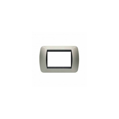 Placca Living International 3 moduli - Titanio chiaro L4803TC