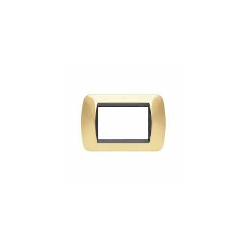 Placca Living International 3 moduli - Oro Vero L4803OR