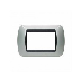 Placca Living International 3 moduli - Alluminio L4803AL