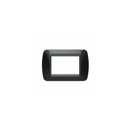 Placca Living International 3 moduli - Nero Solid L4803NR