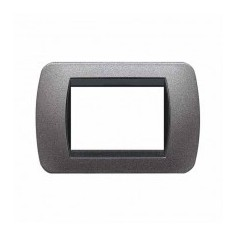 Placca Living International 3 moduli - Grafite L4803GF
