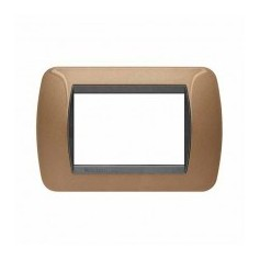 Placca Living International 3 moduli - Bronzo ossidato L4803BO