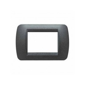 Placca Living International 3 moduli - Grafite Nero L4803GFN