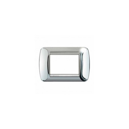 Placca Living International 3 moduli - Chrome L4803CT