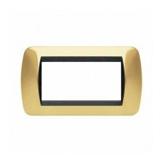 Placca Living International 4 moduli - Oro Vero L4804OR