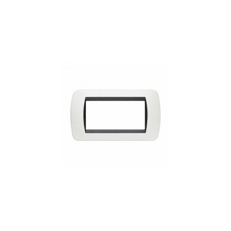 Placca Living International 4 moduli - Bianco L4804PB