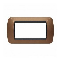 Placca Living International 4 moduli - Bronzo ossidato L4804BO