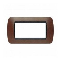 Placca Living International 4 moduli - Bachelite L4804BK