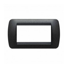 Placca Living International 4 moduli - Grafite Nero L4804GFN