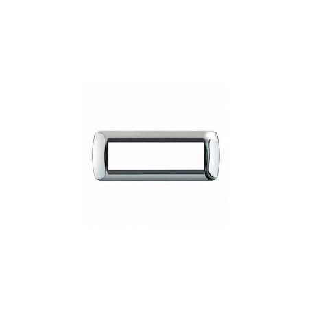 Placca Living International 7 moduli - Cromo Lucido L4807CR