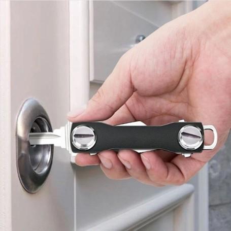 Placca Living International 2 moduli - Acciaio scuro L4802PA