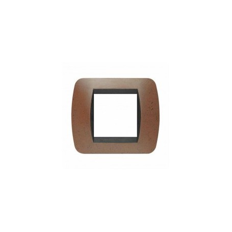 Placca Living International 2 moduli - Bachelite L4802BK