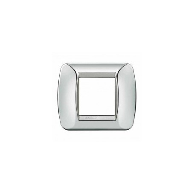 Placca Living International 2 moduli - Chrome L4802CT