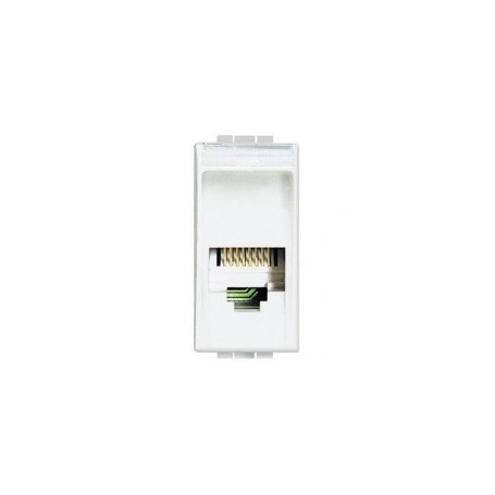 BTicino N4258/11N Living Light connettore telefonico bianco RJ11