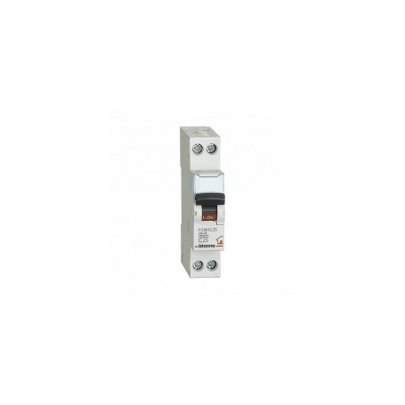 Interruttore magnetotermico 1P+N C 25A - 4,5kA - 1M Bticino FC881C25