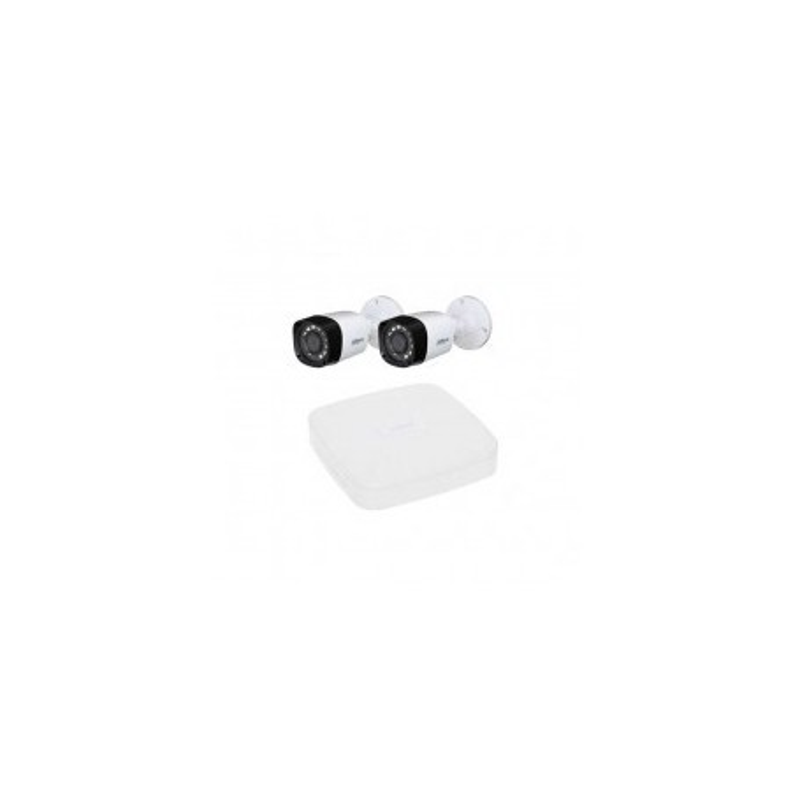 Kit Videosorveglianza DAHUA FULL HD @1080p XVR 4CH + 2 CCTV