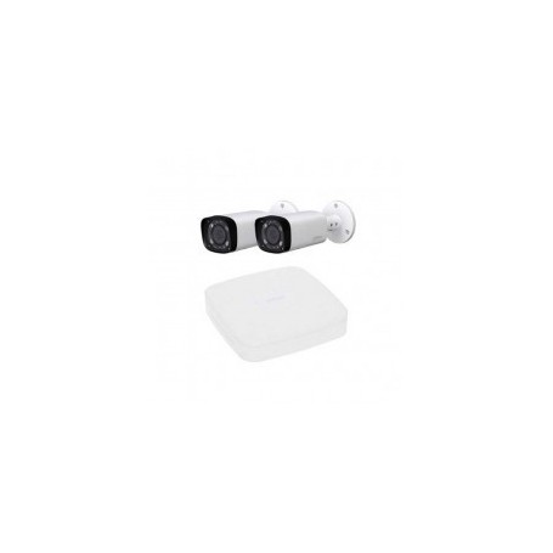 Kit Videosorveglianza DAHUA HD@1080p XVR 4CH + 2 CCTV 2.8-12mm