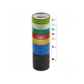 10x nastro isolante diversi colori 20m Kanlux IT-1/20-MIX Cod. 01283