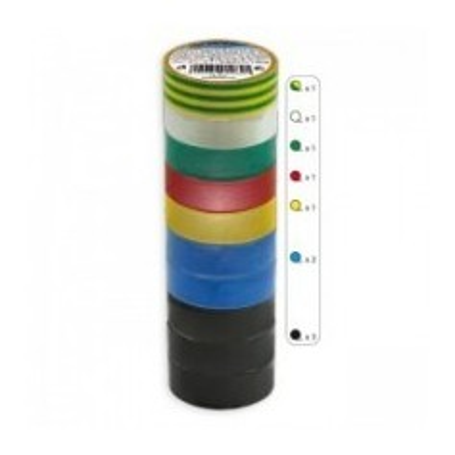 10x nastro isolante diversi colori 20m Kanlux IT-1/20-MIX Cod. 01283