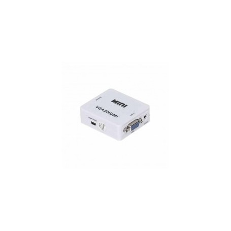 Convertitore VGA + 2CH Audio in segnale HDMI - White
