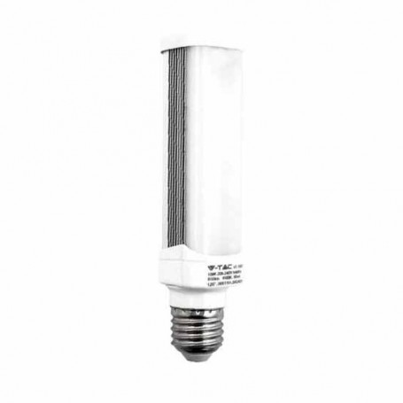 Lampadina LED SMD PL E27 10W 120° 850LM bianco naturale 4500K