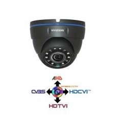 Telecamera Dome Metallica CCTV 2.8MM HYUNDAI 4IN1 IBRIDA 2Mpx HD@1080p Dark Grey IP65 LPS HYU-327