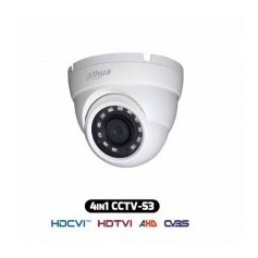 Telecamera Dome HDCVI IBRIDA 4IN1 1080p 2Mpx 2.8MM HAC-HDW1220R-S3