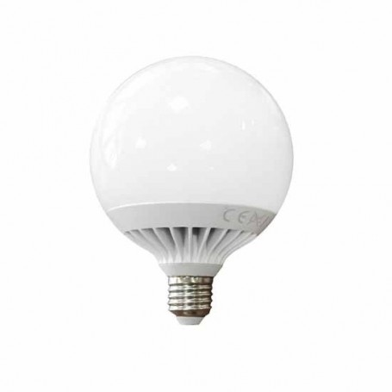 Lampadina globo LED 15W E27 G120 luce bianco naturale 4500K
