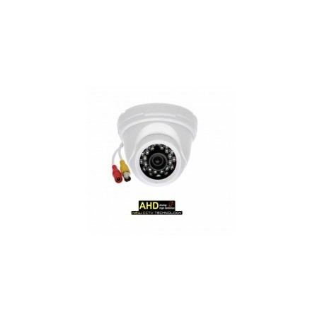 "Telecamera Dome AHD 720p CMOS 1/4"" OmniVision 24LED 3.6mm IP40 White"