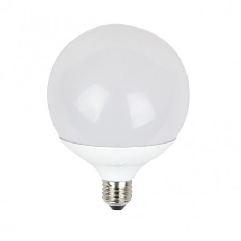 Lampadina globo LED SMD 18W E27 G120 bianco caldo 3000K 200°