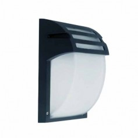 Portalampada Moderno da parete IP44 vetro e alluminio Nero 1xE27