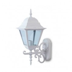Portalampada lanterna Large Facing UP alluminio IP44 Bianco E27