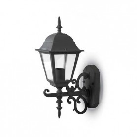 Portalampada lanterna Small Facing UP alluminio IP44 Nero E27