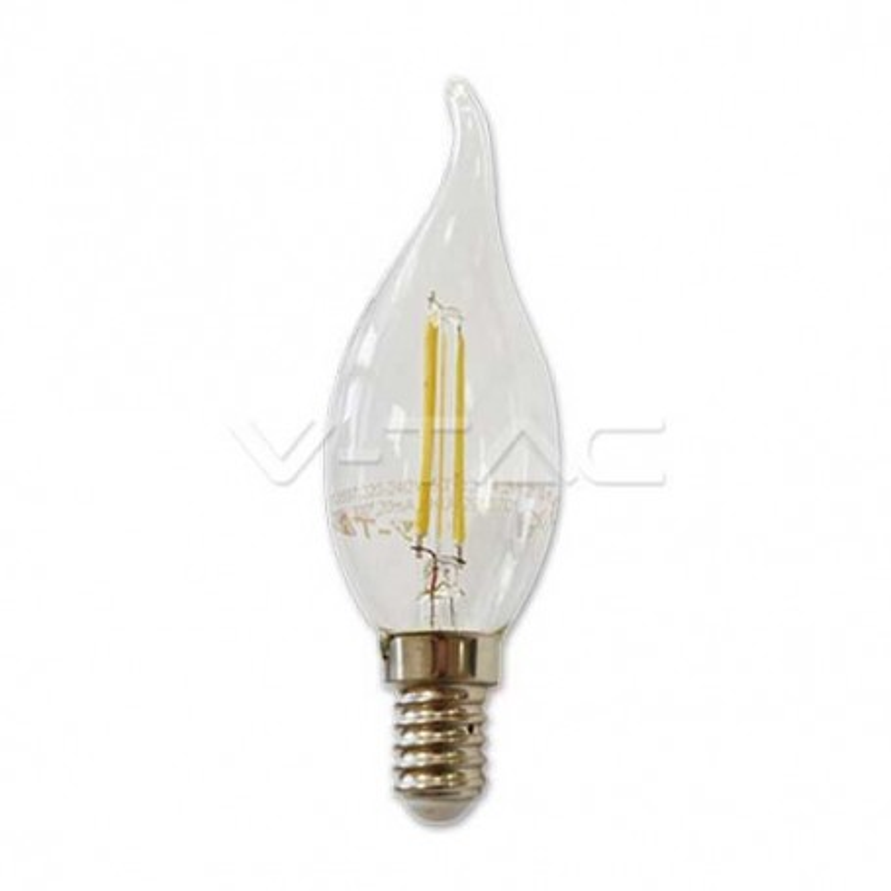 Lampadina LED candela filamento 2W E14 bianco naturale 4500K