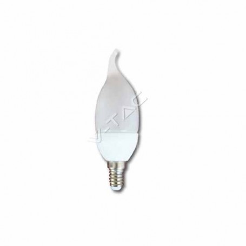 Lampadina a LED candela flame 4W E14 luce bianco caldo 3000K