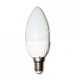 Lampadina a LED Epistar candela 4W E14 luce bianco freddo