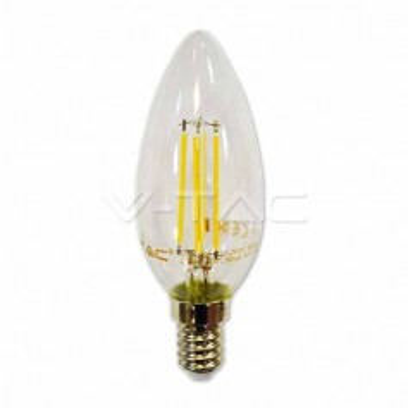 Lampadina LED candela filamento 4W E14 luce bianco caldo 2700K