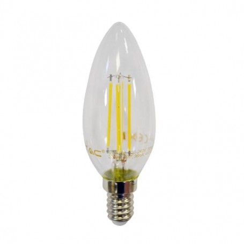 Lampadina LED candela filamento 4W E14 2700K 300° - Dimmable