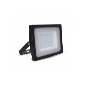 Faro LED SLIM Nero 50W 100° 4250LM IP65 SMD A+ Mod. VT-4955B