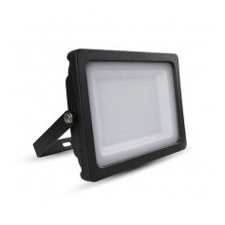 Faro LED SLIM Nero 100W 100° 8500LM IP65 SMD A+ Mod. VT-49100B