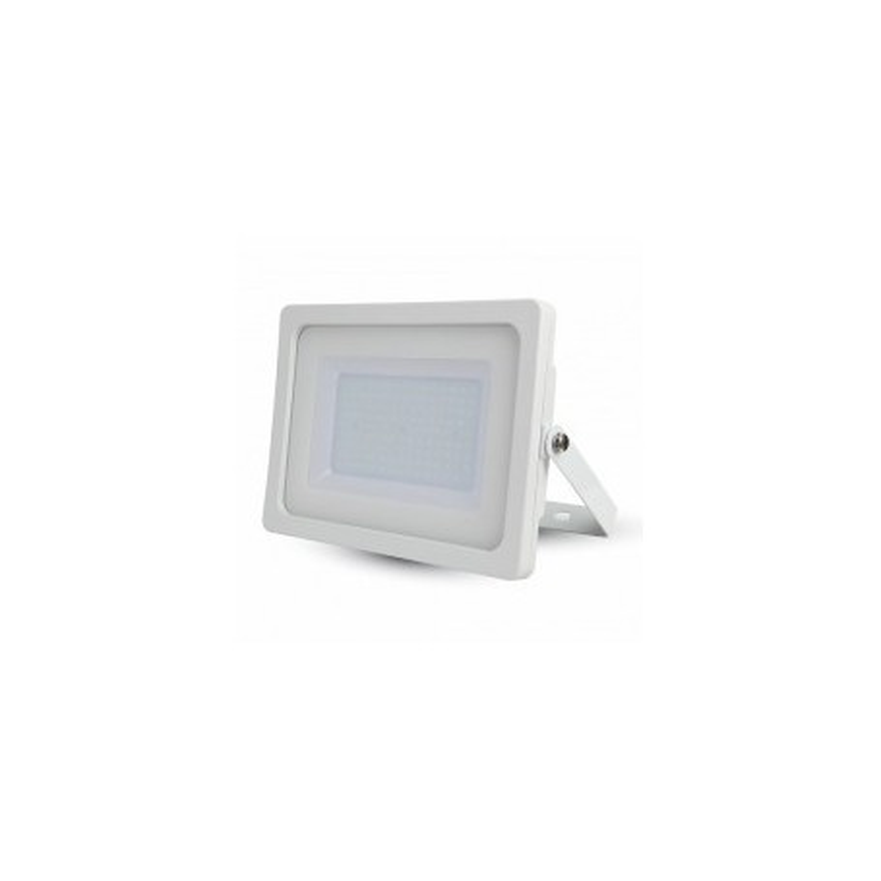 Faro LED SLIM Bianco lucido 100W 100° 8500LM IP65 SMD A+ MOD VT-49100W