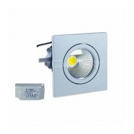 Faretto incasso LED PKW quadrato 3W 40° COB Mod. VT-1104SQ