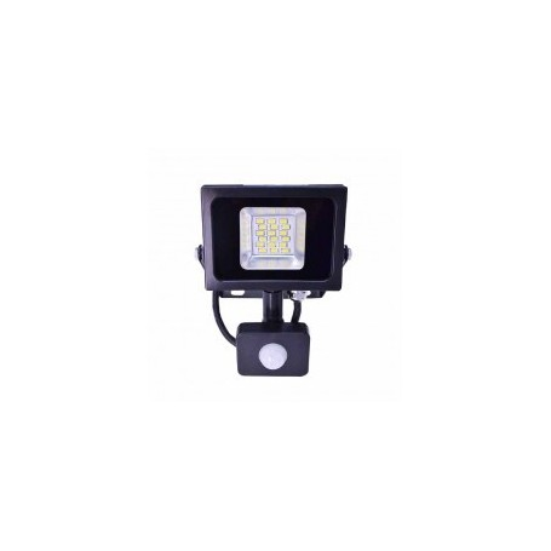 Faro LED SLIM Black 10W PIR + crepuscolare Mod VT-4810 PIR