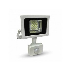 Faro LED SLIM White 10W PIR + crepuscolare Mod VT-4810-1 PIR