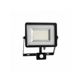 Faro LED SLIM 20W sensore PIR + crepuscolare Mod VT-4820 PIR