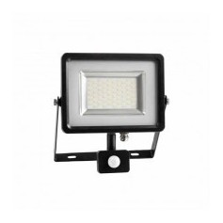 Faro LED SLIM 30W sensore PIR + crepuscolare Mod VT-4830 PIR
