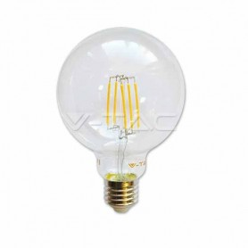 Lampadina Globo LED 6W filamento E27 G95 luce bianco caldo 2700K