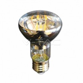 Lampadina a LED 6W filamento E27 R63 luce bianco caldo 2700K